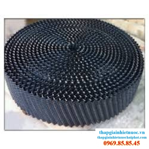 tam tan nhiet nuoc tron, lõi lọc nước tản nhiệt tròn đen, tấm tản nhiệt nước PVC